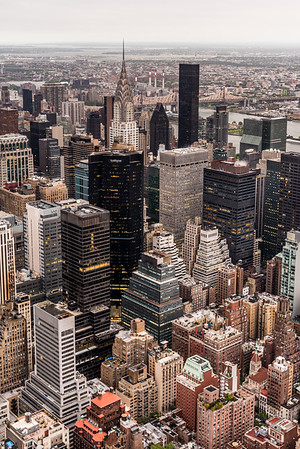 View of Chrysler Building from Empire State Building