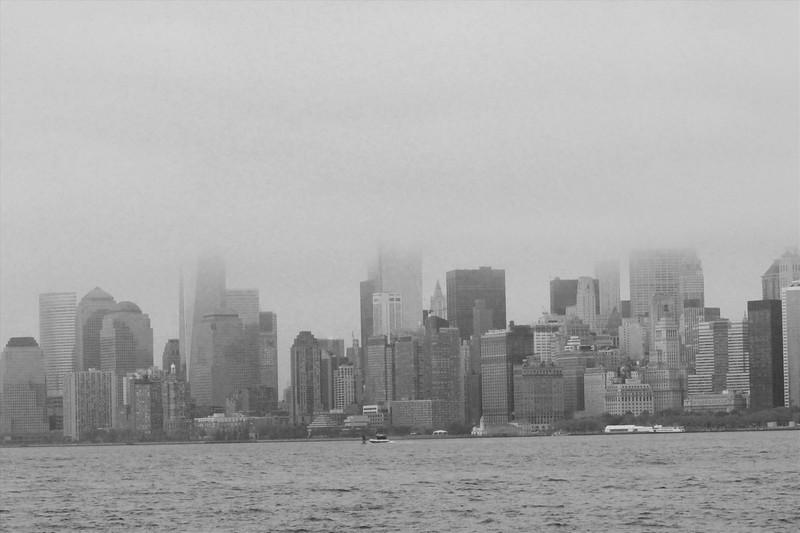 foggy Manhattan Skyline ~ NY ~ black and white