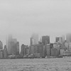 foggy Manhattan Skyline ~ NY ~ black and white