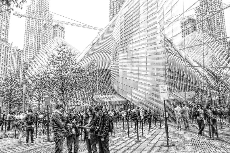 Ground Zero ( new construction)  ~ in black and white