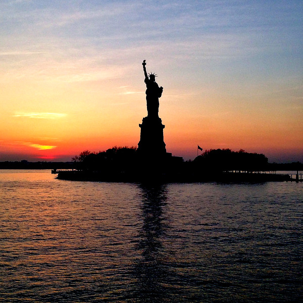 Statue of Liberty at Sunset. 2015.
