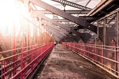 Williamsburg Bridge on a sunny day