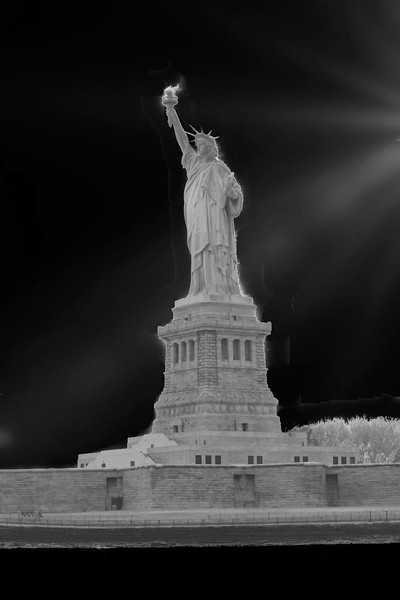Statue of Liberty ~ black and white
