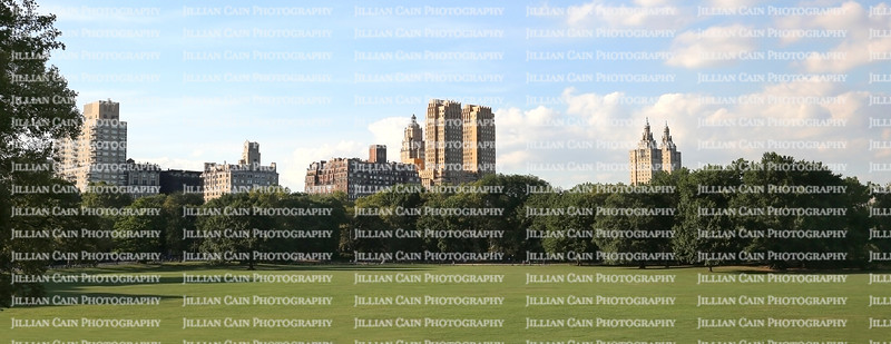 New York skyscrapers surround apartment and condominiums in Midtown Manhattan