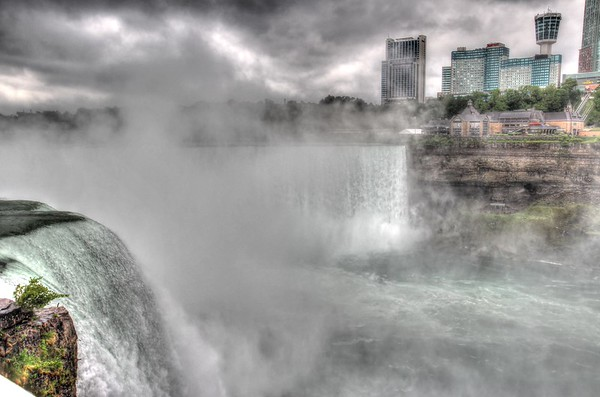 On the edge of Niagara Falls.