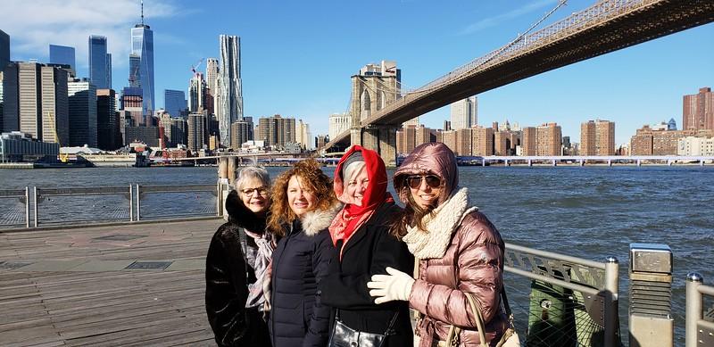 Us  in front of Brooklyn Bridge