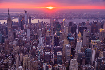 Manhattanhenge Aerial, New York, New York