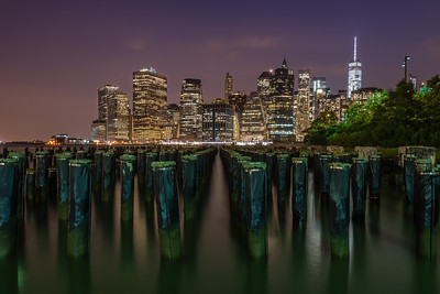 View of Lower Manhattan from Brooklyn Bridge Park
