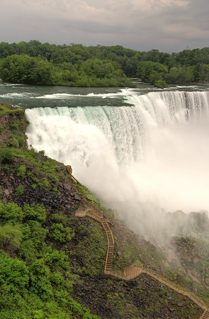 A view of the walkway at the base of Niagara, from the Maid of the Mist Docks.