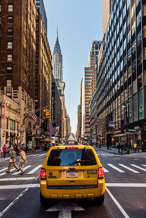 Yellow cab in New York City.