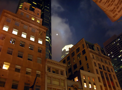 Manhattan night sky