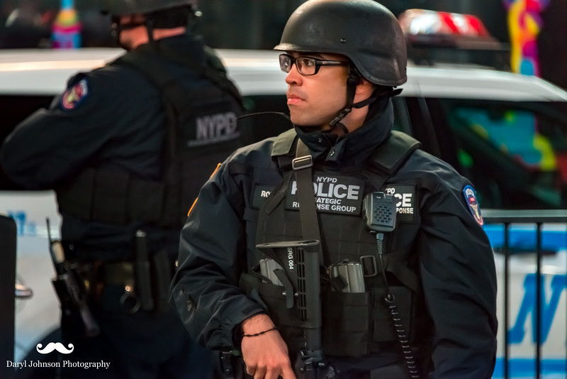NYPD @ the ready...