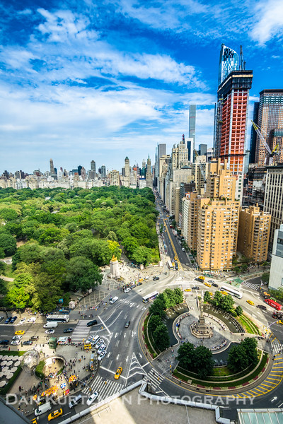 Overlooking Columbus Circle and Central Park