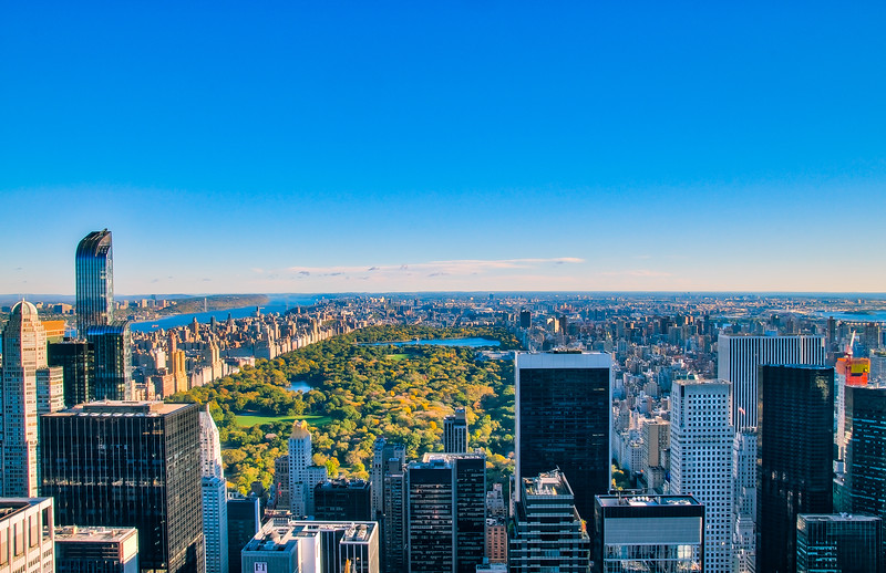 Overlooking Central Park, New York City, USA