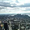 view from top of Empire State Building ~ NY