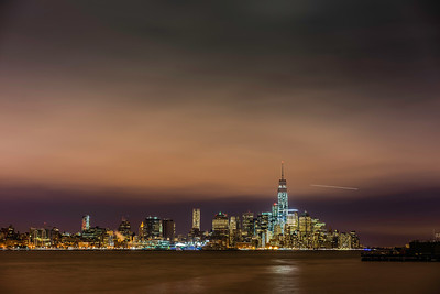 Cold night over lower Manhattan.