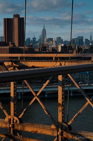 Manhattan from Brooklyn Bridge - New York