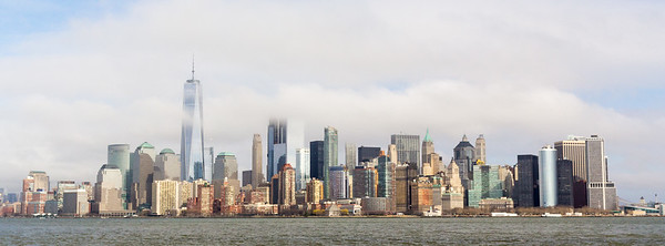 Manhattan skyline from ferry