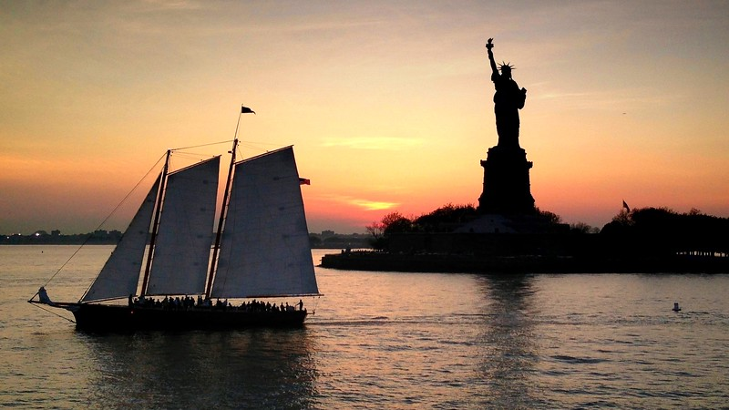 Lady Liberty and Sailboat. 2013.