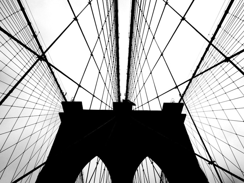 Brooklyn Bridge Silhouette. 2014.