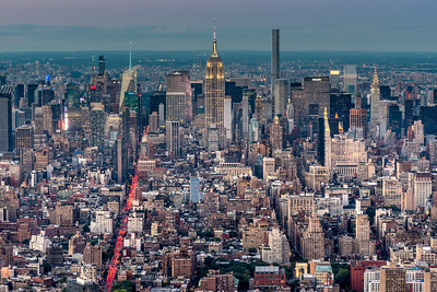 View of Manhattan Skyline from One World Trade Center