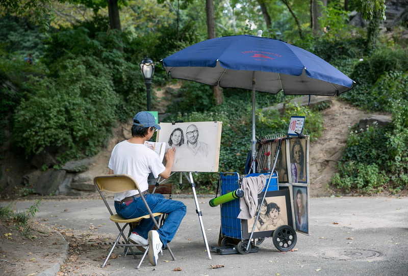 Artist in Central Park