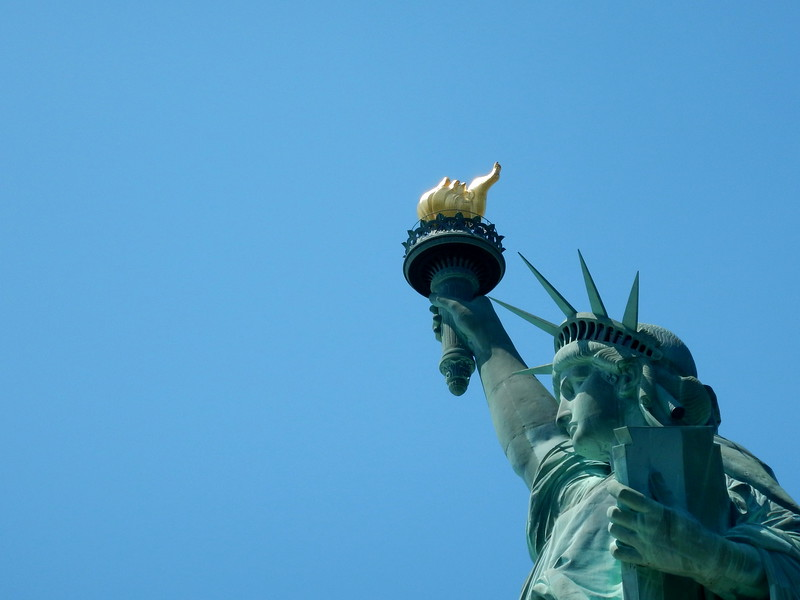 Lady Liberty close up. 2015.