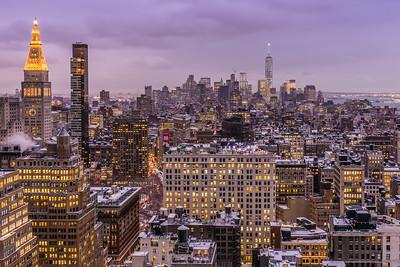 Manhattan Skyline in winter