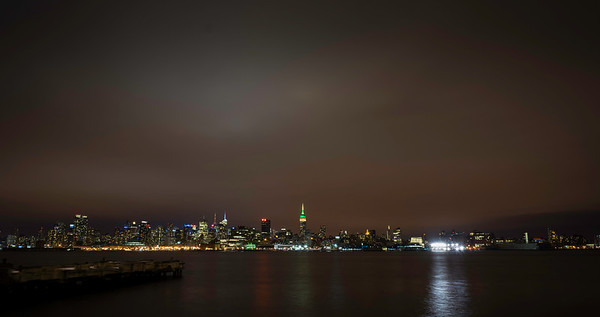 Cold night over Midtown Manhattan