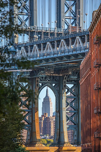Icons: Empire State Building and Manhattan Bridge, New York, New York