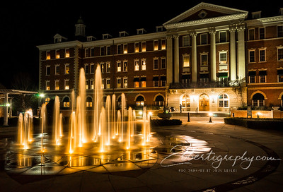 Culinary Institute of America at night