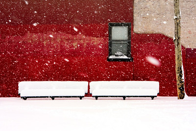 Snowy Red Wall