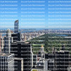 Blue skies over the New York City skyline
