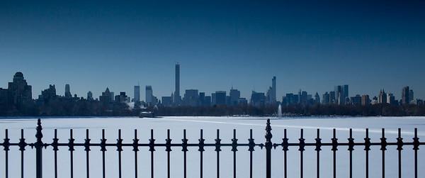 Central Park view over Uptown Manhattan