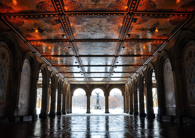 The Lower Passage under Bethesda Terrace in Central Park. 2014.