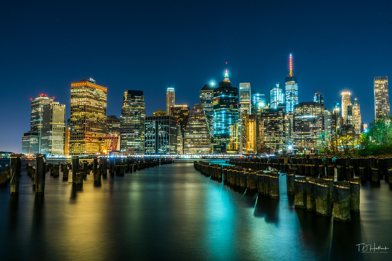 New York Skyline from Brooklyn park