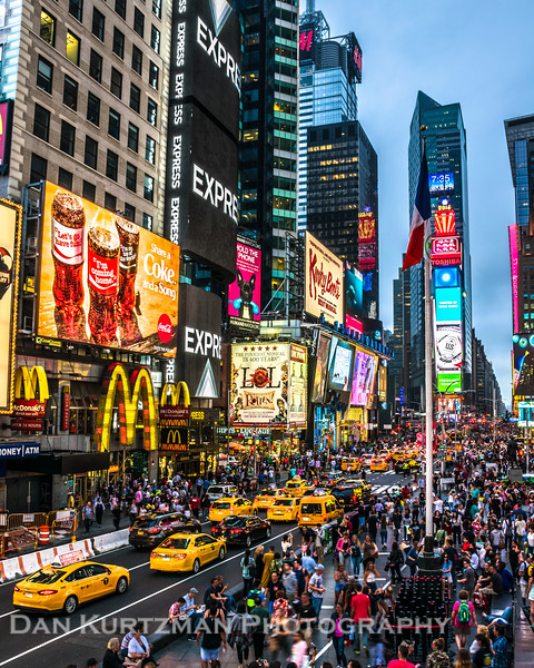 Times Square at Twilight, New York City