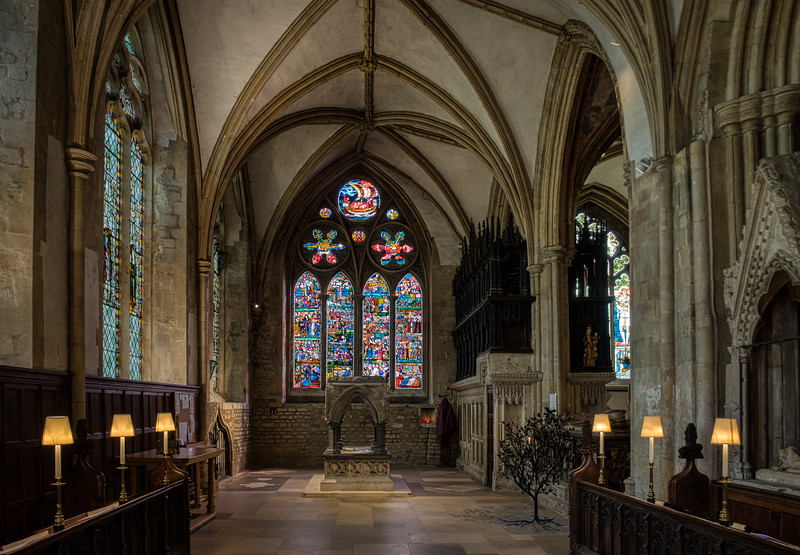 St. Frideswide's Shrine at Christ Church Cathedral, Oxford, UK.