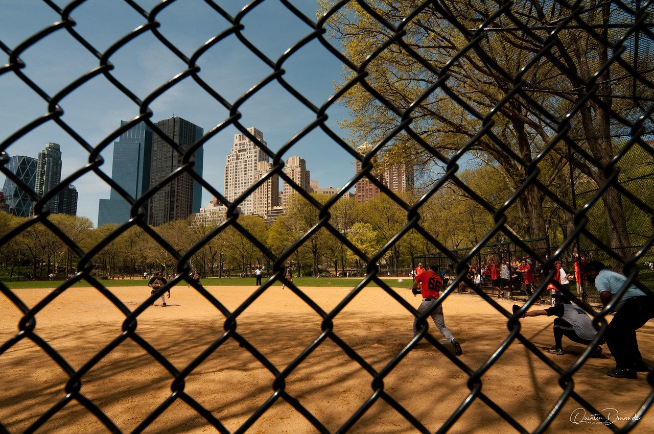 Base Ball in Central Park - New York