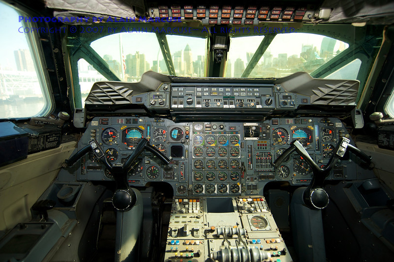 Skyline from the Concorde's cockpit