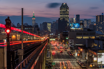 View of Empire State Building from Queens