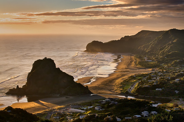 Piha Beach in the Waitakere Ranges Regional Park west of Auckland