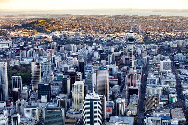 Auckland CBD looking west