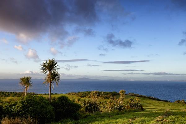 Sunrise on Tiri looking towards Rangitoto and Auckland