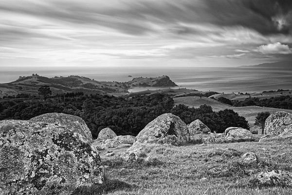 View north east from Stony Blatter Scenic Reserve on Waiheke Island