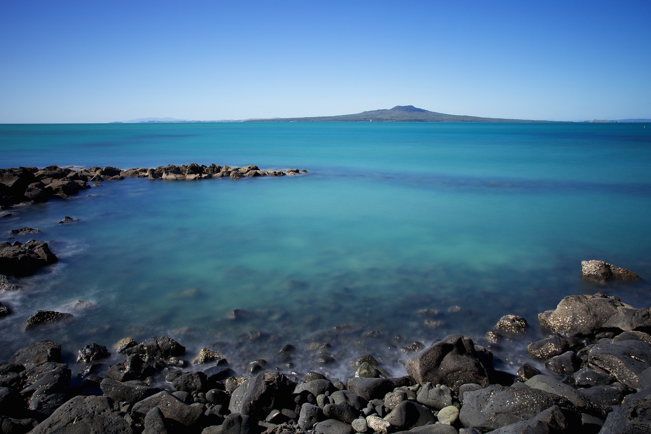 Rangitoto Blue from the North Shore Coastal Walkway