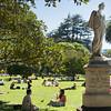 Summer in Albert Park, haunt of Auckland University students