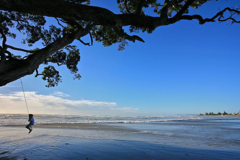 Swing at Waihi Beach in the Bay of Plenty