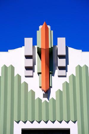 Art Deco detail  in  Napier
