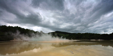 Artist's Palette, Wai-O-Tapu Thermal Wonderland, between Rotorua and Taupo